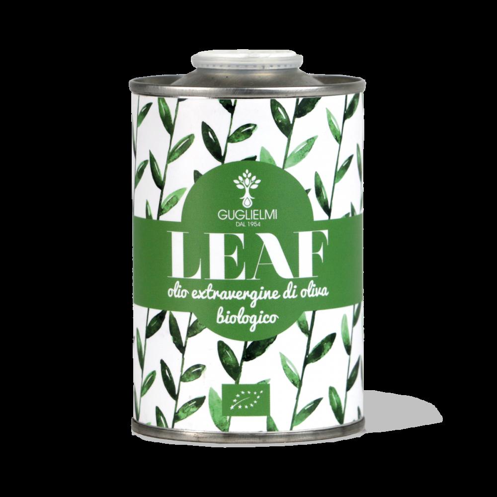 leaf olio extravergine di oliva biologico olio guglielmi